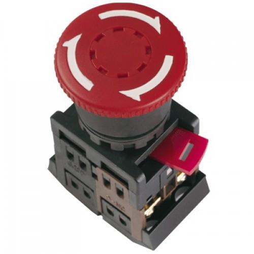 Кнопка АЕ d22мм Гриб с/ф красн. 240В